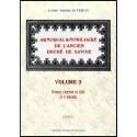 ARMORIAL ET NOBILIAIRE DE L'ANCIEN DUCHÉ DE SAVOIE - volume 3
