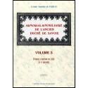 ARMORIAL ET NOBILIAIRE DE L'ANCIEN DUCHÉ DE SAVOIE - volume 5-1