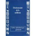 DICTIONNAIRE DE LA NOBLESSE - Table