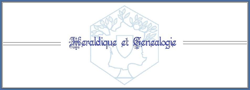 Héraldique et généalogie - numéros épars