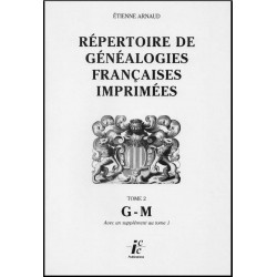 Répertoire de généalogies françaises imprimées - Volume 2